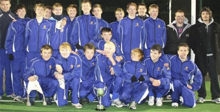 Leinster U16's with the Interprovincial tropy