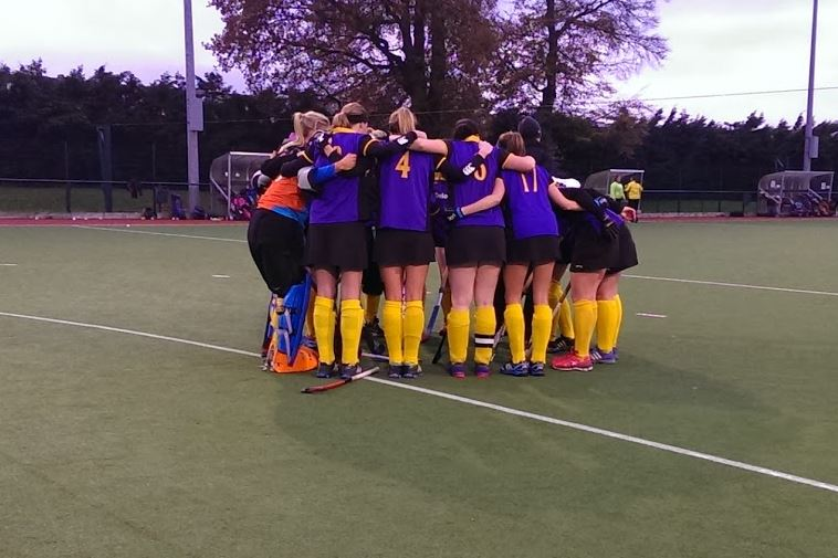 Ladies 2nds before their 2-0 win over Loreto in Beaufort