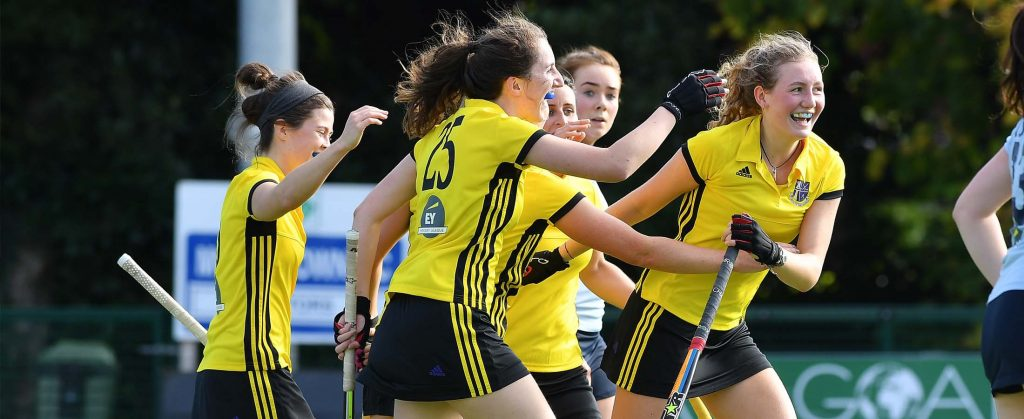 Ladies celebrate a goal -yellow - 2200