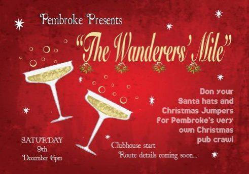 Pembroke Wanderers christmas mile